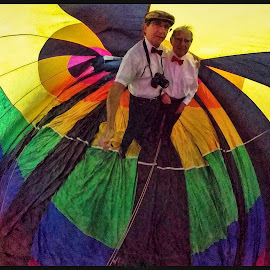 Irv and I by James Rudick - People Family ( father and son, hot air balloon, portrait, people )