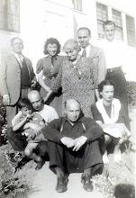 Photo: (T) Isidor Heyman, Mynette Heyman Pound, Ernestine Bernstein Heyman, Eric Brock, Mervyn Marks Jr, (B) Clyde Pound, Leo Heyman, Athur Heyman, Bess Heyman