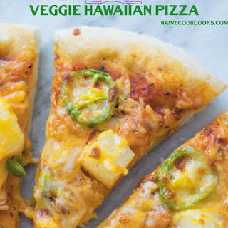 Veggie Hawaiian Pizza.