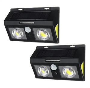 Set 2 x Lampa solara 20W Dual COB LED IP65
