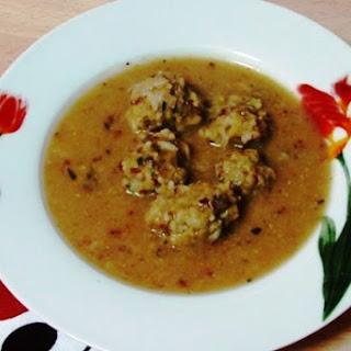 """Giouvarlakia (Greek """"Meatball"""" Soup)"""