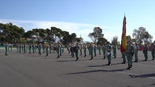La banda forma en el patio de armas