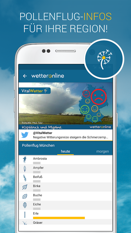 WetterOnline – Screenshot