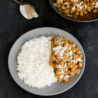 Garlicky Sesame Chickpeas with Coconut.