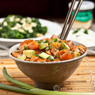 Hawaiian Salmon Poke Recipe