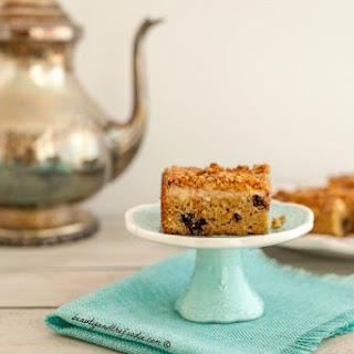 Blueberry Cream Crumb Cake