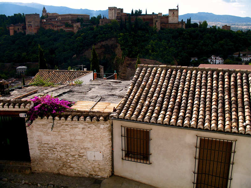 alhambra in the distance; click for previous post