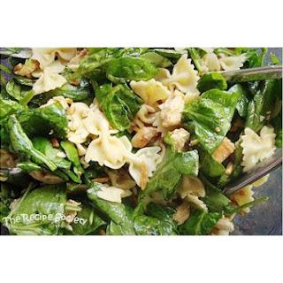 Asian Spinach Chicken Salad With Bowtie Pasta