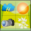 Crazy weather camera icon