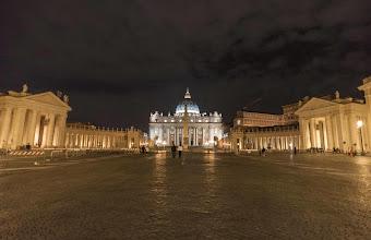 Photo: Saint Peter's Square at night, Vatican