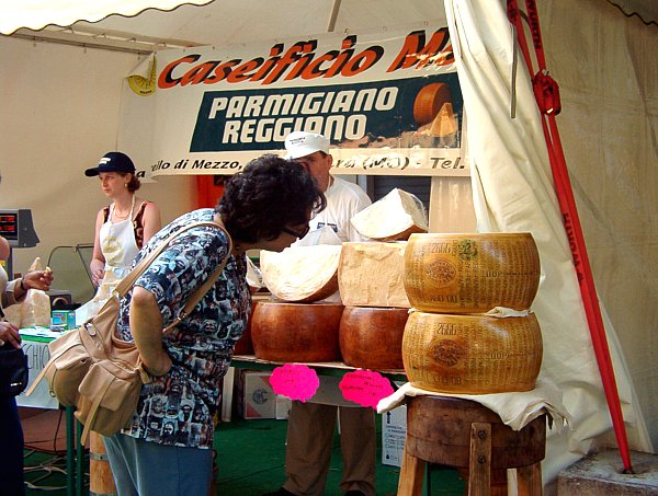a cheese festival in Modena Italy.  thanks to wikivisual for the phot