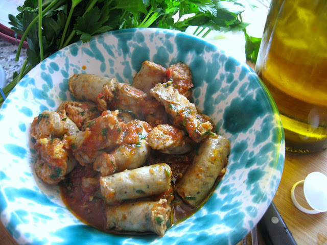 Grilled Italian Sausage in Spicy Tomato Sauce Recipe