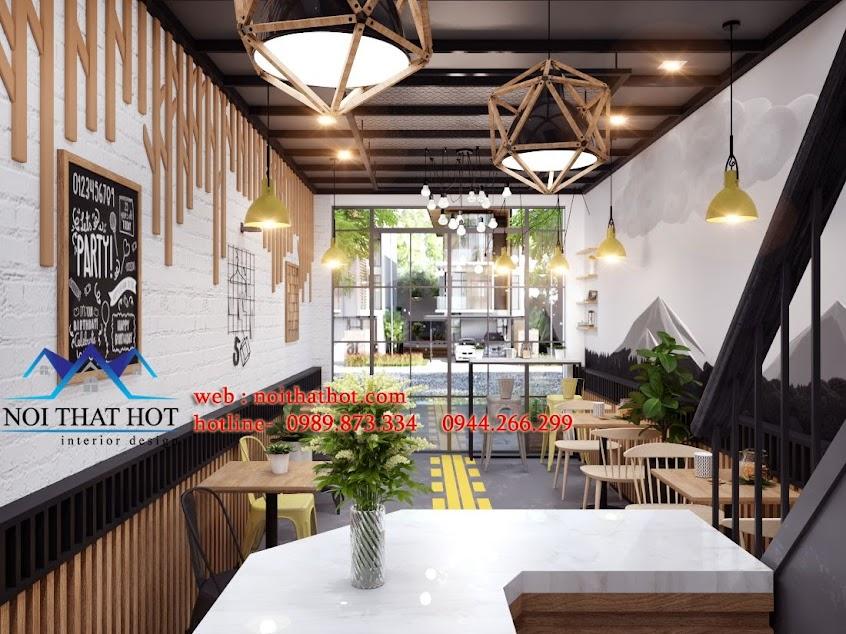 thiết kế cửa hàng ăn nhanh chất lượng cao