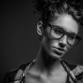 Amber  by Michael Fallon - Black & White Portraits & People