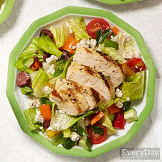 Chopped Greek Salad with Lemon Chicken