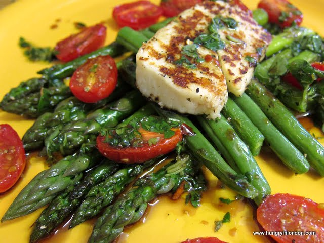 Ute cooks: HALOUMI AND ASPARAGUS SALAD