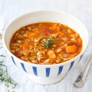 Lentil Barley Soup {Vegan}.