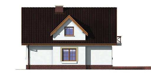 Dom przy Sosnowej - Elewacja tylna