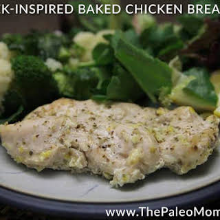 Greek-Inspired Baked Chicken Breast.