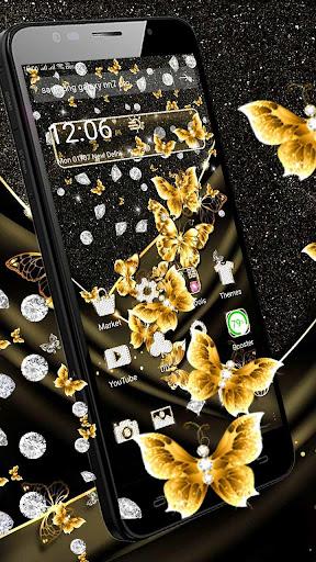 golden butterfly diamond gravity theme screenshot 3