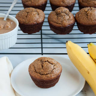 Peanut Butter Banana Muffins with Oat Flour.