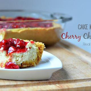 Cake Mix Cherry Cheesecake.