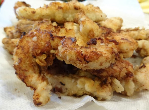 Fry tenders until golden brown. About 4 to 5 minutes per side.  Drain...