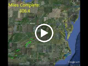 Video: My progress on the Appalachian Trail over the past few years.