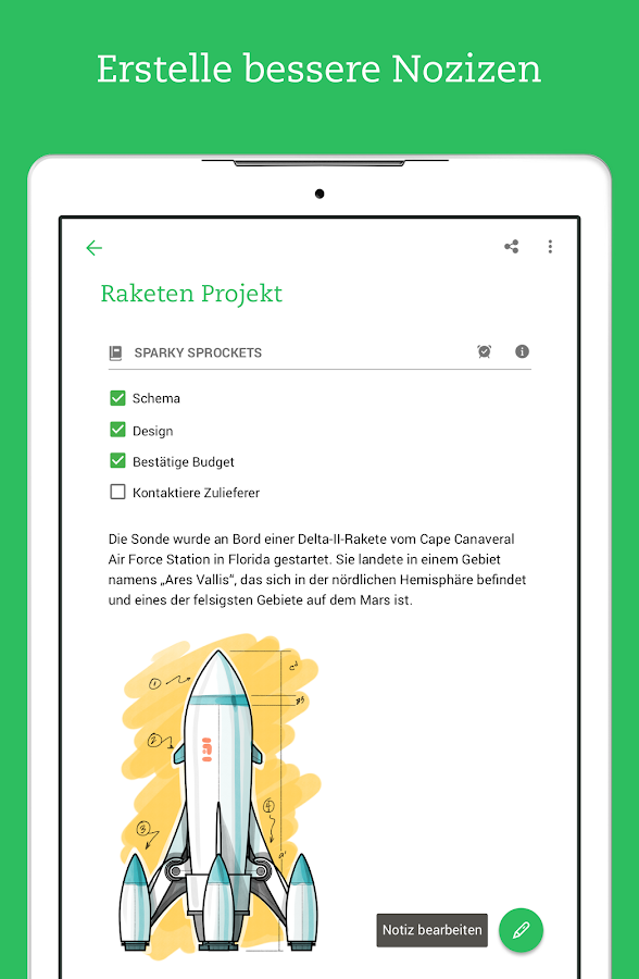 Evernote – Screenshot