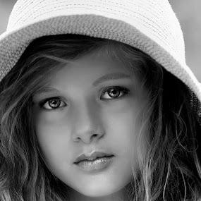 Chloe's Hat by Sylvester Fourroux - Babies & Children Child Portraits