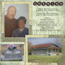 Photo: My 1st layout ever! These are my great-grandparents.  I used elements and papers from CottageArts Heritage Pak-- designed by Michelle Shefveland (CottageArts.net)  -- 7/4/06