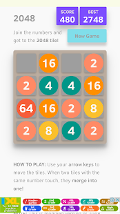 2048 Material classic puzzle - náhled