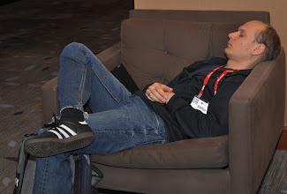 Photo: Steffen Pingel takes a nap at EclipseCon 2011.