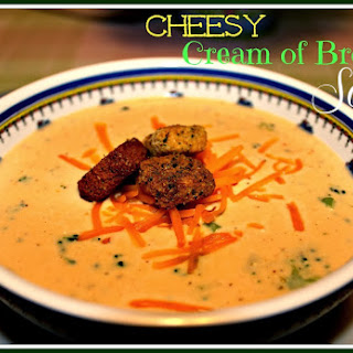 Cheesy Cream of Broccoli Soup!