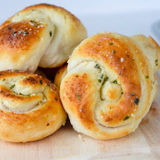 Garlic Parmesan Knots.