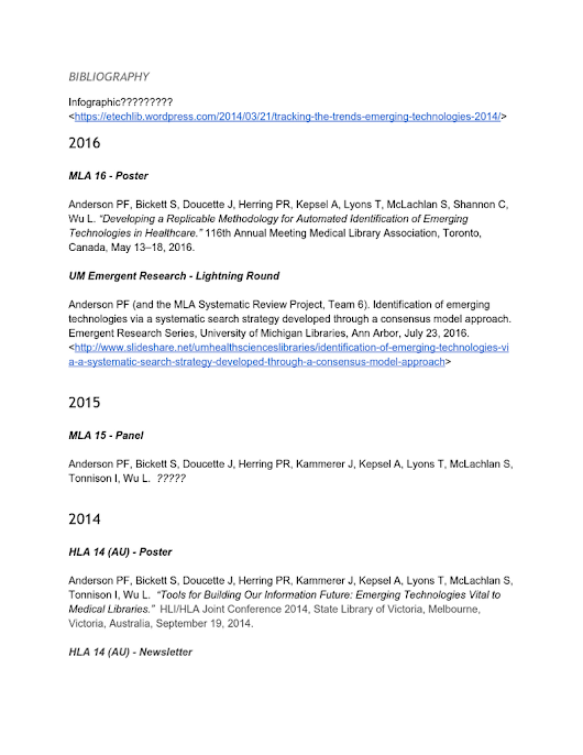 BIBLIOGRAPHY OF OUR MLASR6 Project Publications & Presentations