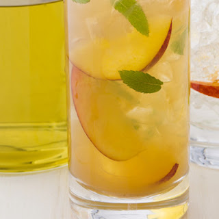 Peach and Mint Iced Tea.
