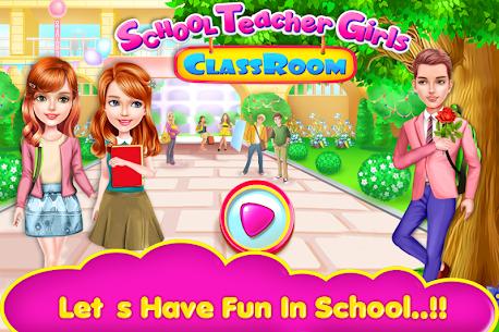 School Teacher Girls Classes 1