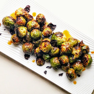 Roasted Brussels Sprouts with Pomegranate Vinaigrette