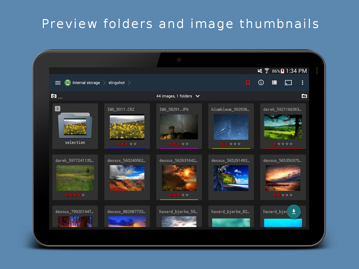 Portfolio RAW Photo Manager- screenshot