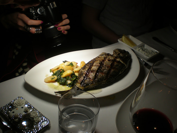 The (apparently quite photogenic) whole grilled sea bream