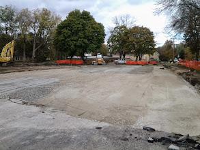 Photo: Gravel base for parking lot 10-24-2013