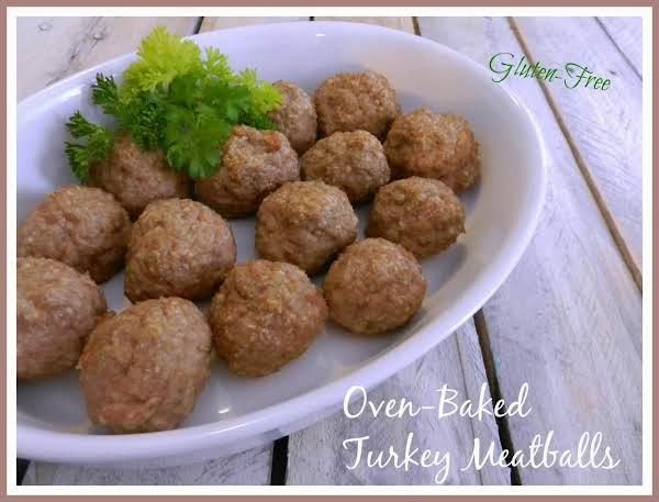 Oven-baked Turkey Meatballs - Gluten-free Recipe