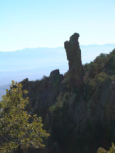 Photo: The first day I took a long day-hike by myself, up Pinnacles Trail and over into Boot Canyon, where this landmark greets you from a point on the trail.