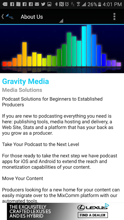 Gravity Media- screenshot