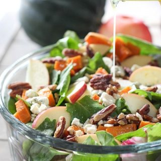 Autumn Salad with Roasted Sweet Potatoes and Pecans Recipe