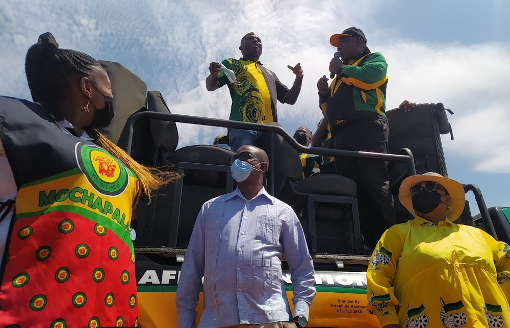 Crowd outs 'drunk' man to Ramaphosa while on campaign trail in Limpopo - TimesLIVE