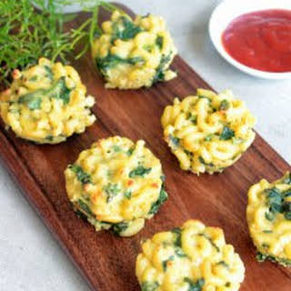 Macaroni, Spinach and Cheese Muffins.