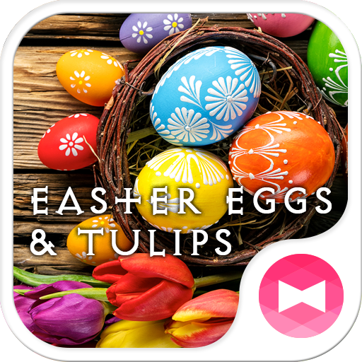Easter Eggs & Tulips Theme Icon
