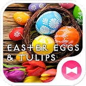 Easter Eggs & Tulips Theme